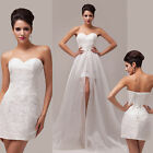 Short Long Sweetheart Evening Formal Prom Bridesmaid Dresses Wedding Ball Gown