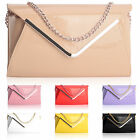 Hot sell Womens envelope clutch bag with chain evening shoulder handbag