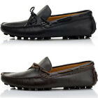 US5-10 REAL Leather Casual Lace Up Round Toe Loafers fashion mens driving shoes