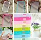 HOAUFashion TPU Bumper Frame with Hard Matte Case Cover Skin for iPhone4 4S 5 5S