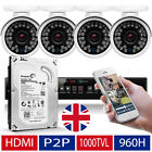 4 x Sony CCD Outdoor Colour Camera 8 Channel 960H CCTV System UK Wireless H.264