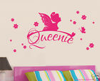 Personalised Name & Fairy with Butterflies and florals Removable wall sticker