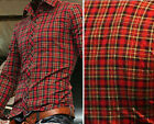 New Designer Checkered Cool Stylish 2014 Men's Slim Fit Casual Plaid Shirt PJ