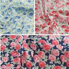 Blooming Garden Rose Flowers Polycotton Fabric
