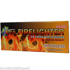 14 ECO FRIENDLY ODOURLESS WOODEN ALL PURPOSE FIRE LIGHTERS WITH MATCHES