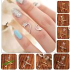 New Fashion Punk Rhinestone Silver Tone Star Spiral Opening Joint Ring 4 Styles