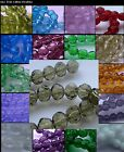 Faceted Round Glass Beads. 8mm Strands. Over 30 Colours. UK SELLER