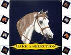 WESTERN SOUTHWESTERN WHITE  & BROWN  HORSE FABRIC PANELS (MAKE A SELECTION)
