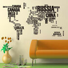 Fashion World Map Wall Sticker Removable Vinyl Art Decal Home Mural Decor