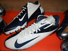 NIB Mens Nike VAPOR TALON ELITE TD LOW Football Cleats Navy Blue White Silver