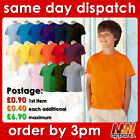 FOTL Kids Tshirt Plain Blank top boy girl child PE school uniform clothes tee MW