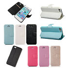 Fashion Luxury Leather Magnetic Flip Pouch Stand Wallet Case Cover For iPhone 5C