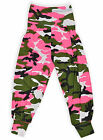 Girls Camo Print Harem Trousers Kids Costume Pants New Child Age 7-13 Years