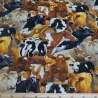 The Herd Cows 100% Patchwork Cotton Fabric Nutex