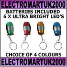 6 LED ULTRA BRIGHT LIGHT BULLET KEYRING TORCH FLASH LIGHT