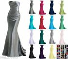 Long Strapless Evening Bridesmaid Dresses Prom Dress Formal Party Ball Gowns