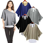 Women Very Comfy 2pcs Batwing Short Sleeve T-shirt+Top Vest Camisole Shirt Polo
