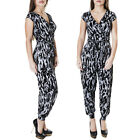New Ladies Womens Tie Dye Print All In One Jumpsuit Playsuit Size 8 10 12 14 S M