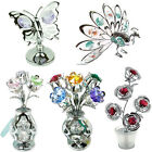 CRYSTAL ORNAMENTS NEW GIFT SET COLLECTABLE CRYSTOCRAFT WITH SWAROVSKI ELEMENTS