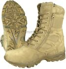 8 Desert Tan Forced Entry Deployment Boot Military Side Zipper Work Boot