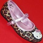 NEW Girl's Toddler HELLO KITTY LOLA Leopard Loafers Buckle Fashion Flats Shoes