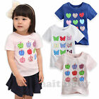 "NWT Baby Toddler Kids Boy Girl Clothes Cool Shorts Top Tee Shirts ""Girlish Tee """