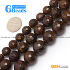"New Round Faceted Bronzite Jewelry Making Gemstone Loose Beads 15""10mm 12mm 14mm"
