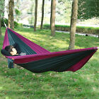 HOT Portable Parachute Nylon Fabric Travel Camping Hammock For Double Two Perso