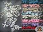 "Mesh Lace PEONY Embroidery Fabrics / 51"" Wide / Sold by the yard"