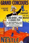 Grand Prix Car Race France Nestle Chocolate Cocoa Vintage Poster Repro FREE S/H