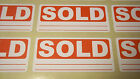 Bright Red SOLD Stickers Tags Labels / Sticky Labels - Removable Adhesive