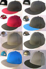 Flat Bill Plain Baseball Hat Solid Color SNAPBACK Adjustable Cotton Ball Cap $15