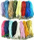 Lot 100 Pcs New Pretty Craft Gauze Voile String Necklace Cords 20Colors
