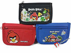 Rovio Angry Birds Trifold Wallet Money Holder Case - New Red / Black / Blue