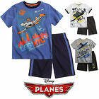 Boys Disney Planes T Shirt Short Set Kids Shorts Top Outfit Age 3 4 5 6 8 Years