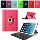 For Apple iPad Air 1st Gen Removable Bluetooth Keyboard  Rotating Case Cover