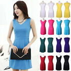 New Fashion Summer Cool Multi-Color Sleeveless Mini Casual Slim Tank Top Dress