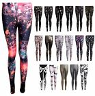 Women's Nebula Aztec Skull Stripe Bone Peace Galaxy Tie Dye Ladies Leggings