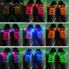 Fashion LED Light Up Shoes Shoelaces Flash Glow in Dark Stick Disco Shoestrings