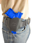 New Barsony Black Leather Gun Quick Slide Holster Sig-Sauer Compact 9mm 40 45Holsters - 177885