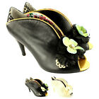 Womens Poetic Licence All In Spring Mid Heel Peep Toe Floral New US Sizes 5-10