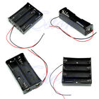 """New Plastic Storage Box Black Case Holder For 18650 Battery With 6"""" Wire Leads"""