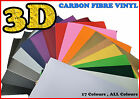 A4 200mm x 300mm All Colour Carbon Fiber/Fibre Vinyl Sticker Sheet Wallpaper