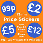 13mm Blue Promotional Display Stand Point Of Sale Retail Price Stickers Sticky