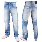 Mish Mash Mens Designer 1988 Ice Byron Light Wash Straight Jeans Final Sale