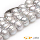 Natural 9-10mm Freshwater Pearl Jewelry Making loose gemstone beads 15""