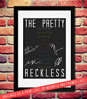 THE PRETTY RECKLESS SIGNED AUTOGRAPH PRINT PHOTO POSTER GIG TICKETS SETLIST A4