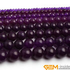 "Amethyst Purple Jade Gemstone Round Beads For Jewelry Making 15"" 6mm 8mm 10mm"