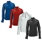 ASICS Women's Competition 1/2 Zip Jacket Sweatshirt, Red, Blue, Black and White