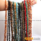 "Natural 7-8mm Freeform Gemstone Chips Beads For Jewelry Making Strand 34"" 15"""